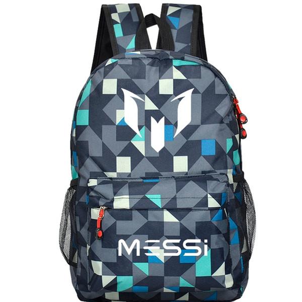 2018 hot sale Messi Logo Teenagers School Book Backpack Soccer Bag Football Shoulder Bags Sports Travel Bag Gift For Kids Mochila Escolar