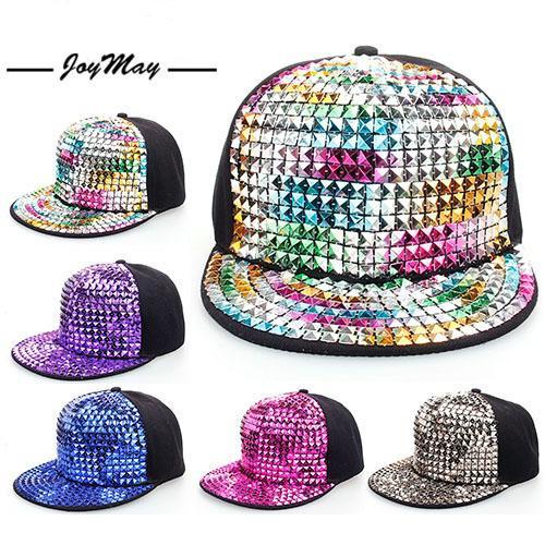 Joymay бренд хип-хоп шапки для мужчин и женщин блесток алмазная паста крыльцо уличны