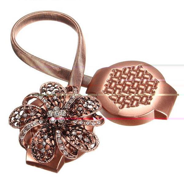 Fleur Forme Strass Printemps Aimant Rideau Embrasse Magnétique Rideau Boucle Fenêtre Criblage Boule Clip Porte-Accessoires Accessoires