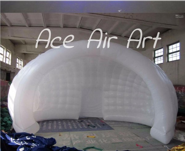 nice and cheap white blow up igloo dome inflatable tent product for promotion pvc material with lighting