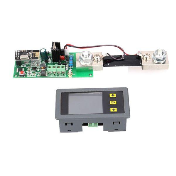 Freeshipping drahtloser DC 0-100V 0-200A Volt Ampere Ah Leistungskapazität Prozent Batterie Monitor Wattmeter