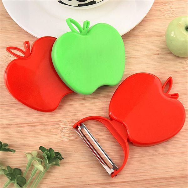 top popular 2017 Newest Apple zesters Fruit Vegetable Peeler Cute New Kitchen Tools Kitchen Cutlery Vegetable Fruit Peeler Paring Knife IA028 2019