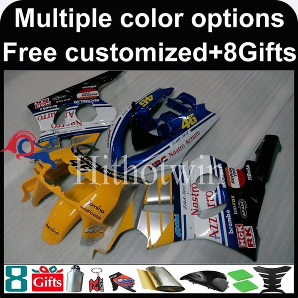 23colors+8Gifts yellow Boda kit motorcycle cowl for HONDA CBR400RR NC29 1990-1994 CBR400RR NC29 90 94 ABS Plastic Fairing