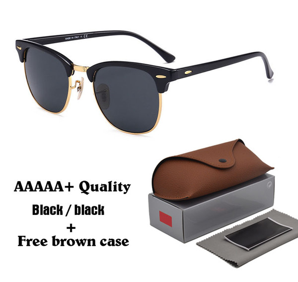 High quality Glass Lens Brand Designer Fashion Men and Women Sunglasses UV400 Protection Sport Vintage Sun glasses With Brown box