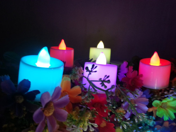 top popular Hot sale LED light vivid eco-friendly Candles in 6 colors for home wedding party decoration remote control 2021