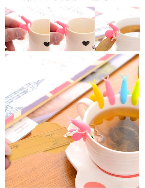 wholesale wine glass silicone cute colorful snails labels marker wine coffee tea labels marker for party decoration free shipping (7)