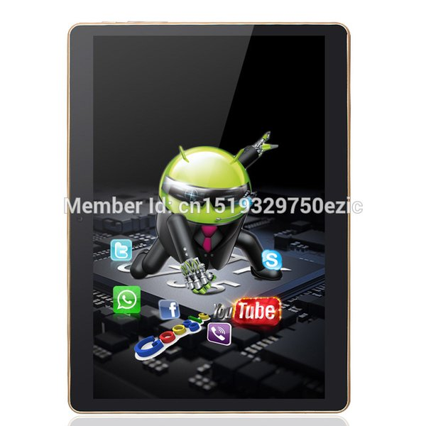 Wholesale- New 9.6 Inch 3G Phone Call Android Quad Core 1280X800 IPS Tablet pc Android 5.1 2GB RAM 16GB ROM WiFi GPS FM 2G+16G Leather Case