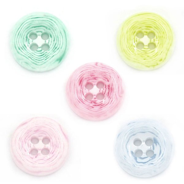 Wholesale Manufacturer Direct Selling Mixed with Pattern Round Resin Button 13mm 200pcs Resin Buttons Plastic Buttons