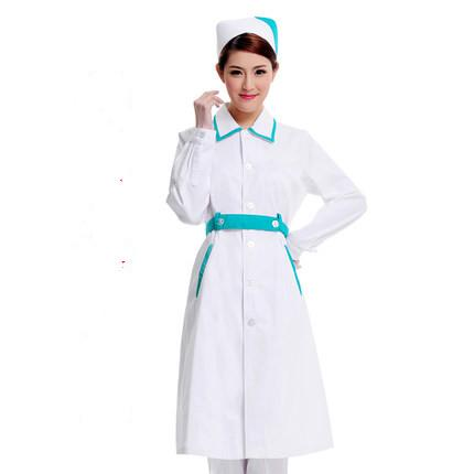 medical Doctor white long-sleeved dress nurse short sleeved uniform experiment under drugstore beauty salon overalls 154