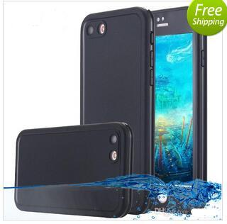 2016 S7 Waterproof Case TPU Rubber Full Boday Cover For iphone 6s plus 5 5s Shock-proof Dust-proof Underwater Diving Cases