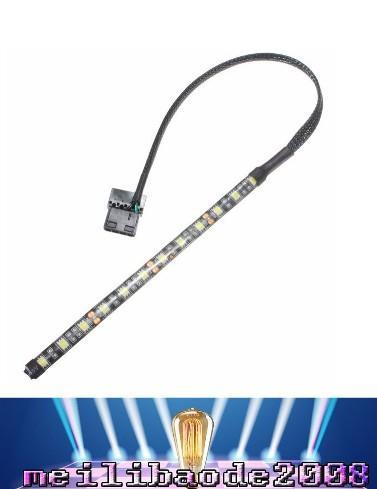 4 Colors 4 Pin 5050 12 LED Light Neon Adhensive Strip Waterproof Dustproof Computer Case Flexible Strip Lamp DC12V LED MYY