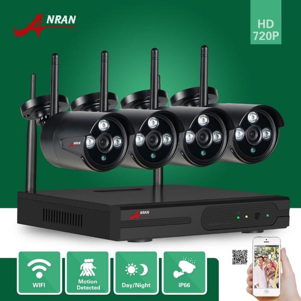 ANRAN P2P HD 4CH сеть Wi-Fi NVR 720P Plug Play массив 3 ИК водонепроницаемый открытый беспроводной IP-камеры видеонаблюдения системы видеонаблюдения