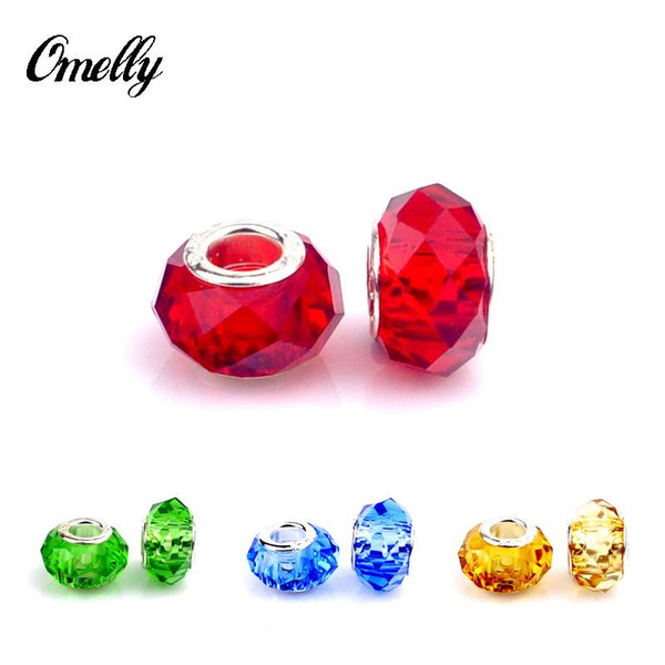 Colourful Clear Beads for Pandora Jewelry Making Loose Pandora Charms DIY Beads for Bracelet Wholesale in Bulk Low Price