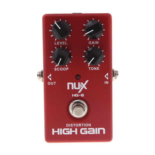 NUX HG-6 High Quality Guitar Distortion High Gain Electric Effect Pedal True Bypass Red Durable Guitar distortion pedal