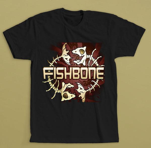 FISHBONE TOUR T-SHIRT SML XL 2XL SKA-PUNK-FUNKSTER BAND KEMURI NOFX Wahnsinn Lässige Fitness Männer T-Shirts