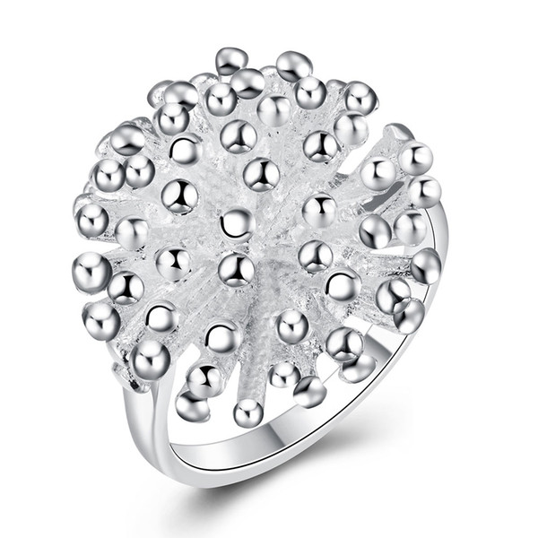 Free shipping Wholesale 925 Sterling Silver Plated Fashion Fireworks rings Jewelry For Gifts LKNSPCR001