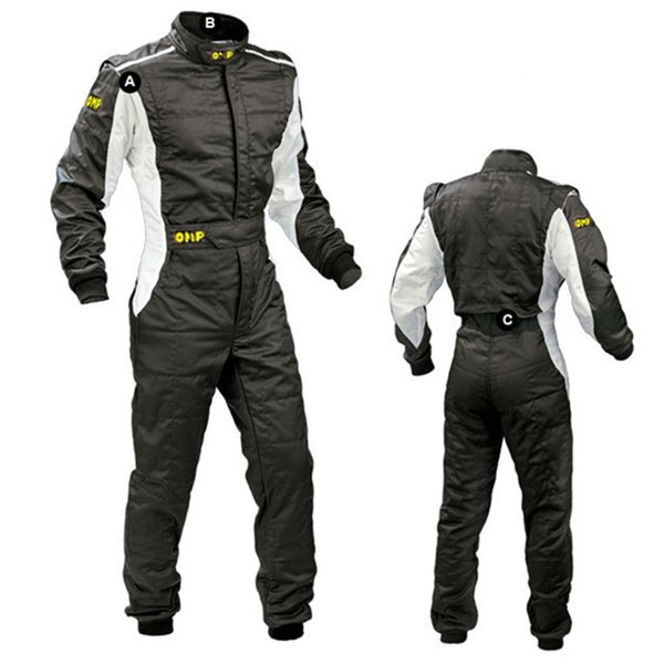 Neue Ankunft 2017 OMP Karting Suit Auto Motorrad Racing Club Übung Kleidung Overalls Stig Anzug Zwei Schicht Wasserdicht