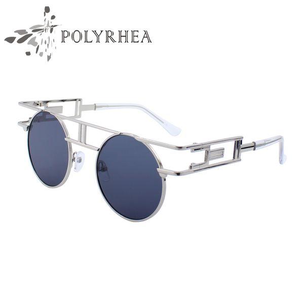 2018 Women Brand Designer Sunglasses High Quality Metal Frame Women Retro Sun Glasses Cool Round Men Eyeglasses With Box And Case