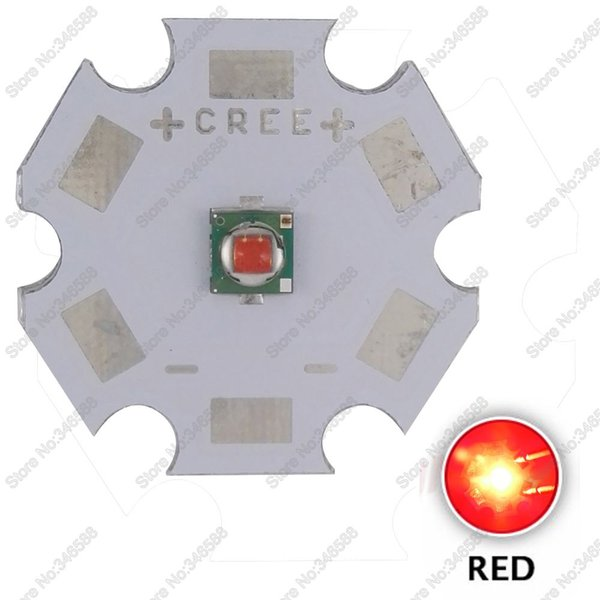 10pcs/Lot! Cree XLamp XP-E XPE Red 620-630NM 3W High Power LED Light Emitter Bead Chip Diode on 8mm 12mm 14mm 16mm 20mm PCB
