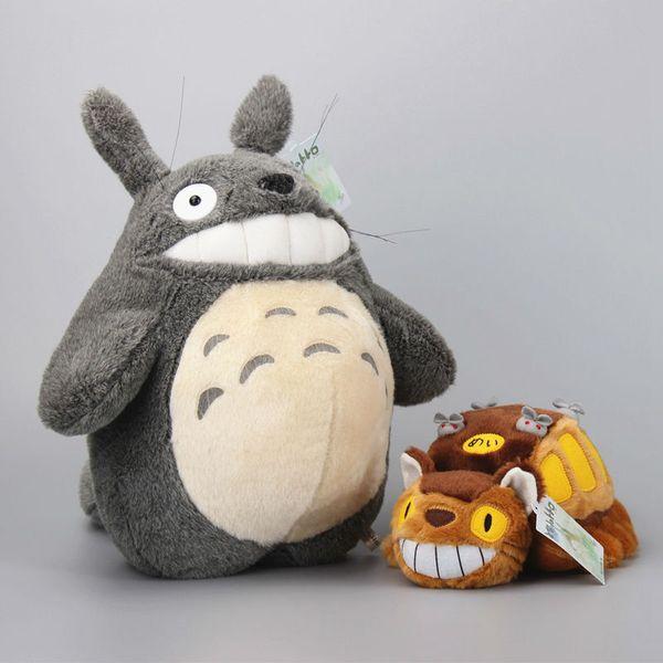 2Pcs /Set My Neightor Totoro Cat Bus Stuffed Soft Dolls Anime Plush Toys Kids Birthday Gift 30-36Cm