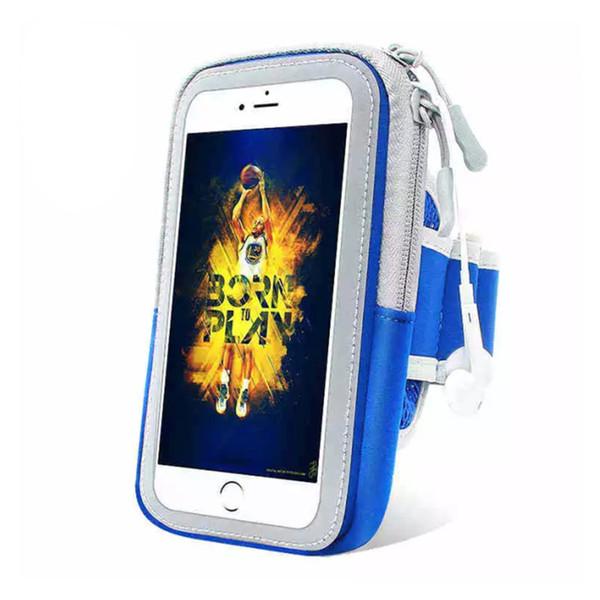 Samsung iPhone için Spor Koşu Armband Vaka Egzersiz Tutucu Pounch Cep Cep Telefonu Kol Çantası Bant