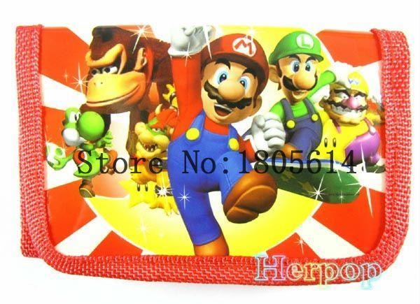 Toptan Satış - 36pc Mario Comic Çanta cüzdan Cüzdanlar Büyüleyici 1 zip ücretsiz kargo jk8