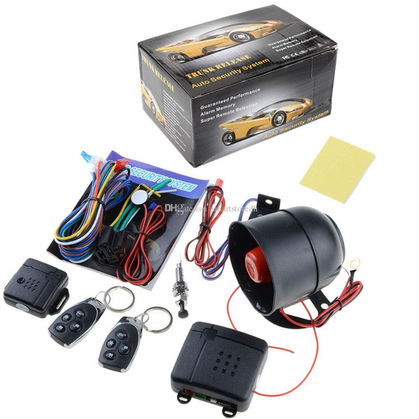 best selling Hot 1-Way Car Vehicle Alarm Security System Keyless Entry Siren +2 Remote M00046 VPWR
