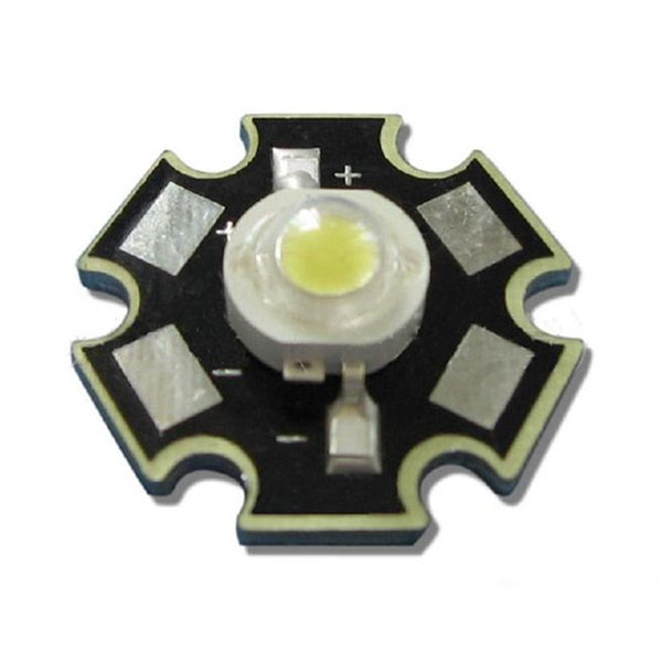 100pcs/lot 3W 45mil Chip White 6000~6500K LED Bead Light Bulb Lamp Part With 20mm Star Base