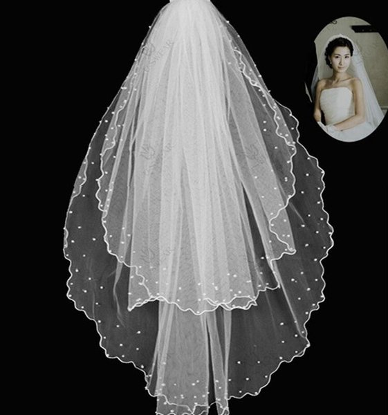 2017 Hot Fashion New Quality New Ivory Appliques One Layer Wedding Bridal Accessory For wedding Dresses Hot Fashion Wedding Net In Stock
