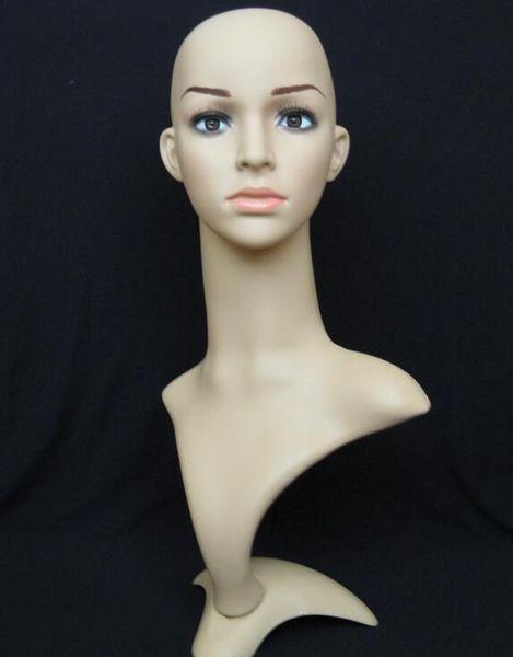 exhibición al por mayor de la peluca Soporte femenino del maniquí de la mujer, sombrero de la cabeza de la peluca del pelo, cabezas del maniquí para la exhibición de la venta, varón del maniquí, M00491