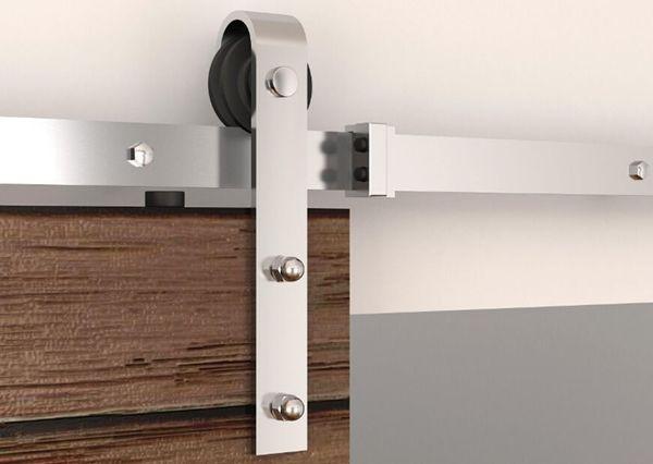 best selling 5ft   6ft  6.6ft   8ft Stainless Steel Modern Interior Wood Sliding Barn Door Hardware Track Hanger Set Kit