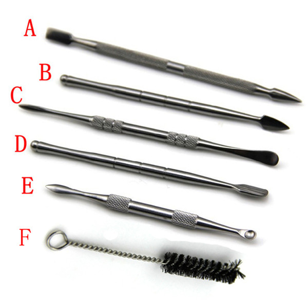 e cigarette Clean Brush Stainless steel dabber tool titanium dab for wax ago g5 vgo skillet atomizer g Pro vaporizer pen
