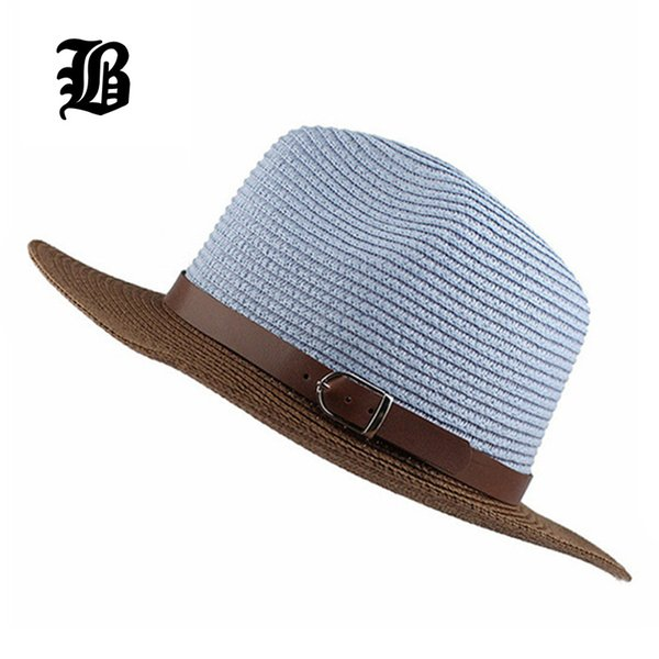 f04dfad2362 Wholesale-  FLB  Cool!!!2015 New Fashion Women s Foldable Wide Brim Floppy Summer  Beach Straw Hats Sweet Butterfly Cap Free Shipping