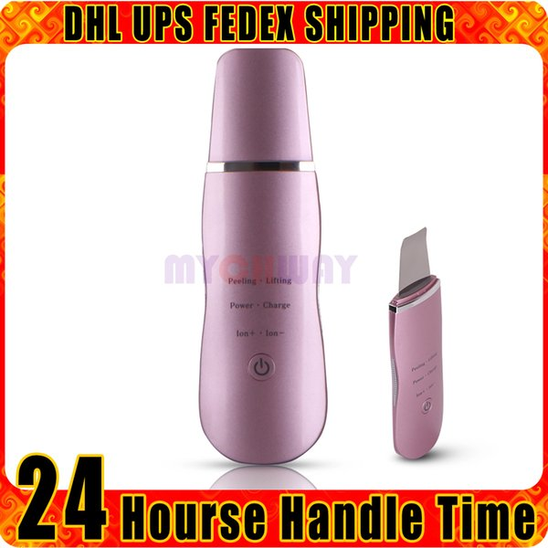 USB Rechargeable Portable Ultrasonic Skin Scrubber Deep Cleaner Massage Facial Care Remove Thin Wrinkles Spots Beauty Device