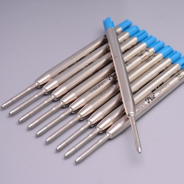westar / Envío gratis - De alta calidad de lujo (10 pedazos / porción) MB 0.7mm Blue Ink Ballpoint Pen Refill para escribir