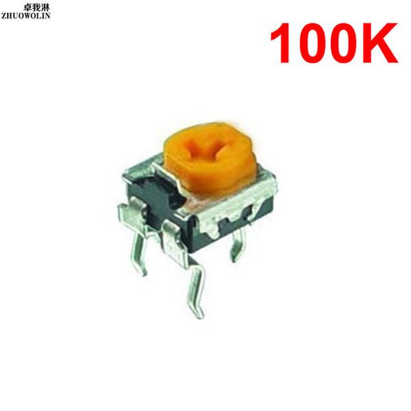 Wholesale- 10PC/Lot WH06-2C 100K Trim Adjustable Resistor Potentiometer Horizontal YXSMDZ3574