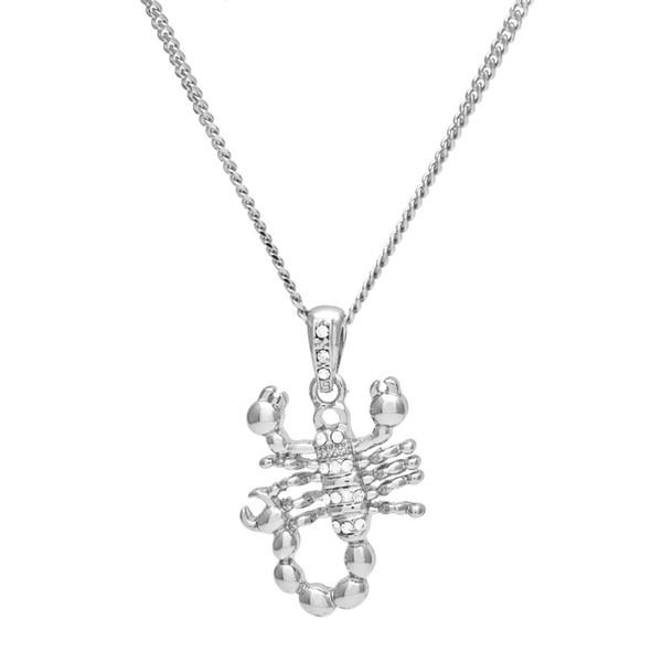 Хип-хоп Золото Серебро Scorpions Шарм Ожерелье и 3мм 24inches Link / Rope Chain Высокое Качество