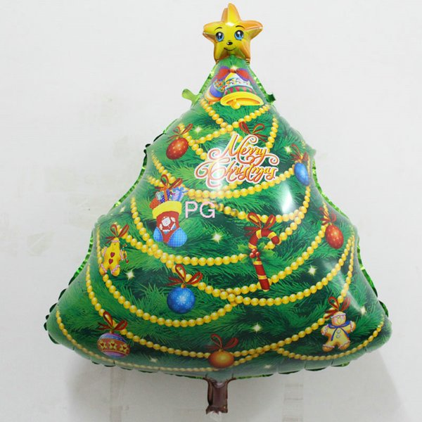 10pcs/lot The new factory wholesale candy christmas tree Christmas balloon shape can launch