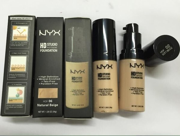 2016 Makeup NYX HD STUDIO PHOTOGENIC face FOUNDATION 36g 6 color HOT NEW DHL free shipping