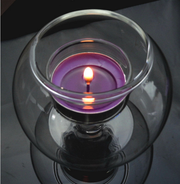 Glass ball thickening windproof candlestick candlestick inside the candle can be done micro-landscape fish tank wedding decoration home acce