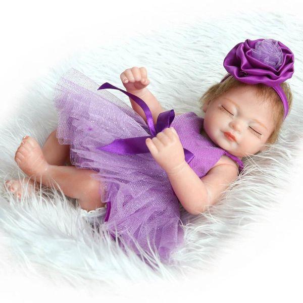 "11"" Realistic Handmade Lifelike Reborn 29cm Baby Dolls Girls Gift Newborn Vinyl Cute"
