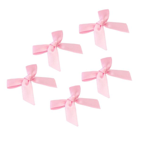 100 Pcs Pink Satin Ribbon Bows Hair Accessories stylish bow Gifts Decorating Card Making Scrapbooking DIY Craft Decoration