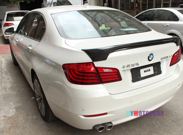 HAM Style Real Carbon Fiber Trunks Spoiler 5-Series F10 F18 Fit For BMW