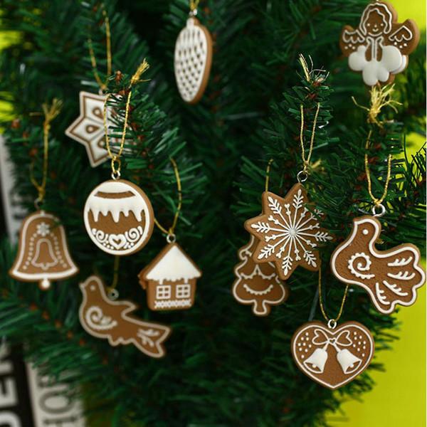 Polymer Clay Christmas Tree.Hanging Ornament Snowflakes Decor Polymer Clay Drop Pendants Christmas Tree Baubles Decoration Enfeites Ornaments Set Za1541 Christmas Decoration