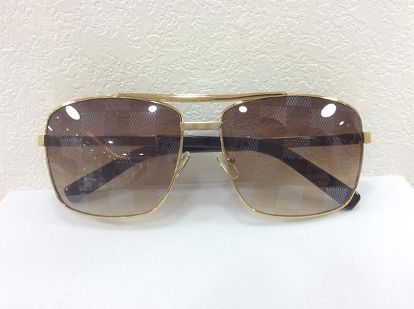 men brand designer sunglass attitude sunglasses square logo on lens gold metal sunglasses square frame outdoor cool deisgn original case
