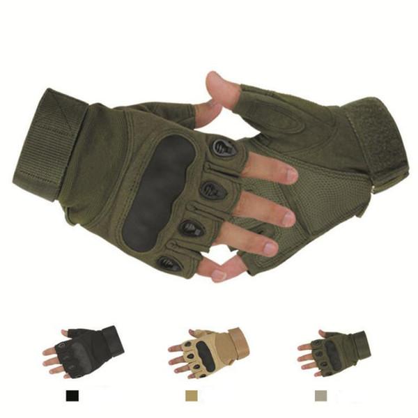 1 Pair Outdoor Driving Tactical Exercise Half Finger Fitness Gloves Sports Fingerless Microfiber Mens&womens Training Gloves Hunt Mitten