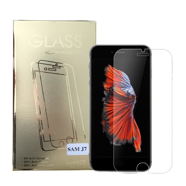 For Iphone Xs Max Iphone 8 Iphone 7 J7 Tempered Glass lScreen Protectors 0.26mm 2.5D Explosion Proof Tempered Glass
