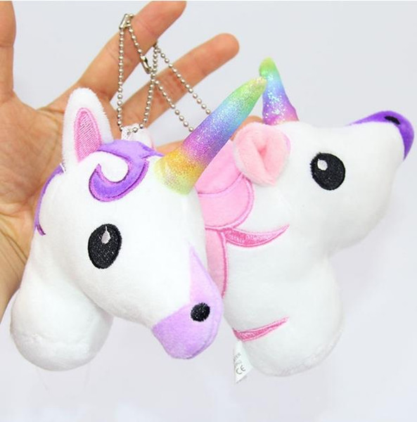 best selling 2017 Cute Cartoon Unicorn Plush Doll Toy Rainbow Simple Soft Ornament Beautiful Personality Bags King Decoration