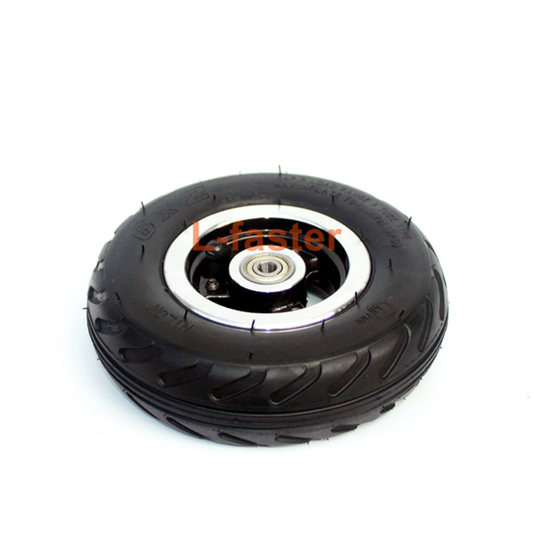 "6X2 Inflation Tire Wheel Use 6"" Tire Alloy Hub 160mm Pneumatic Tyre Electric Scooter F0 Pneumatic Wheel Trolley Cart Air Wheel"