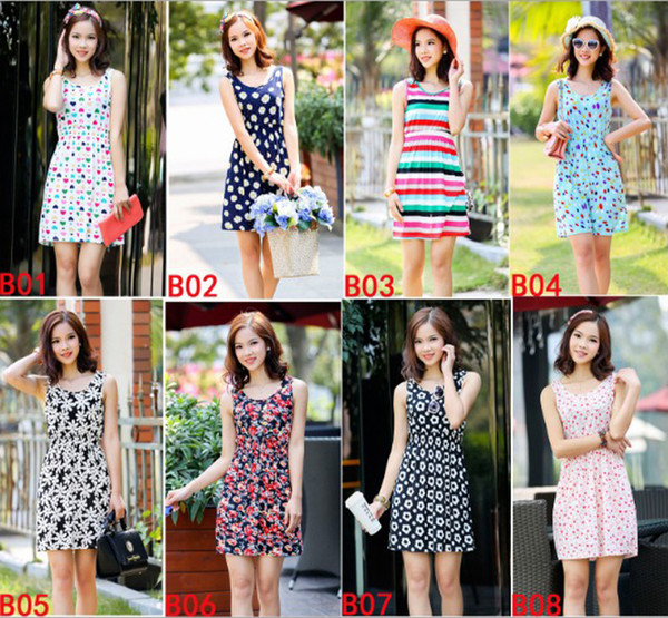 Fashion Women Casual Dress Flora Printed Plus Size Cheap China Dress